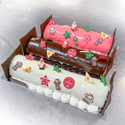 Buche de Noel, Lemon & Raspberry
